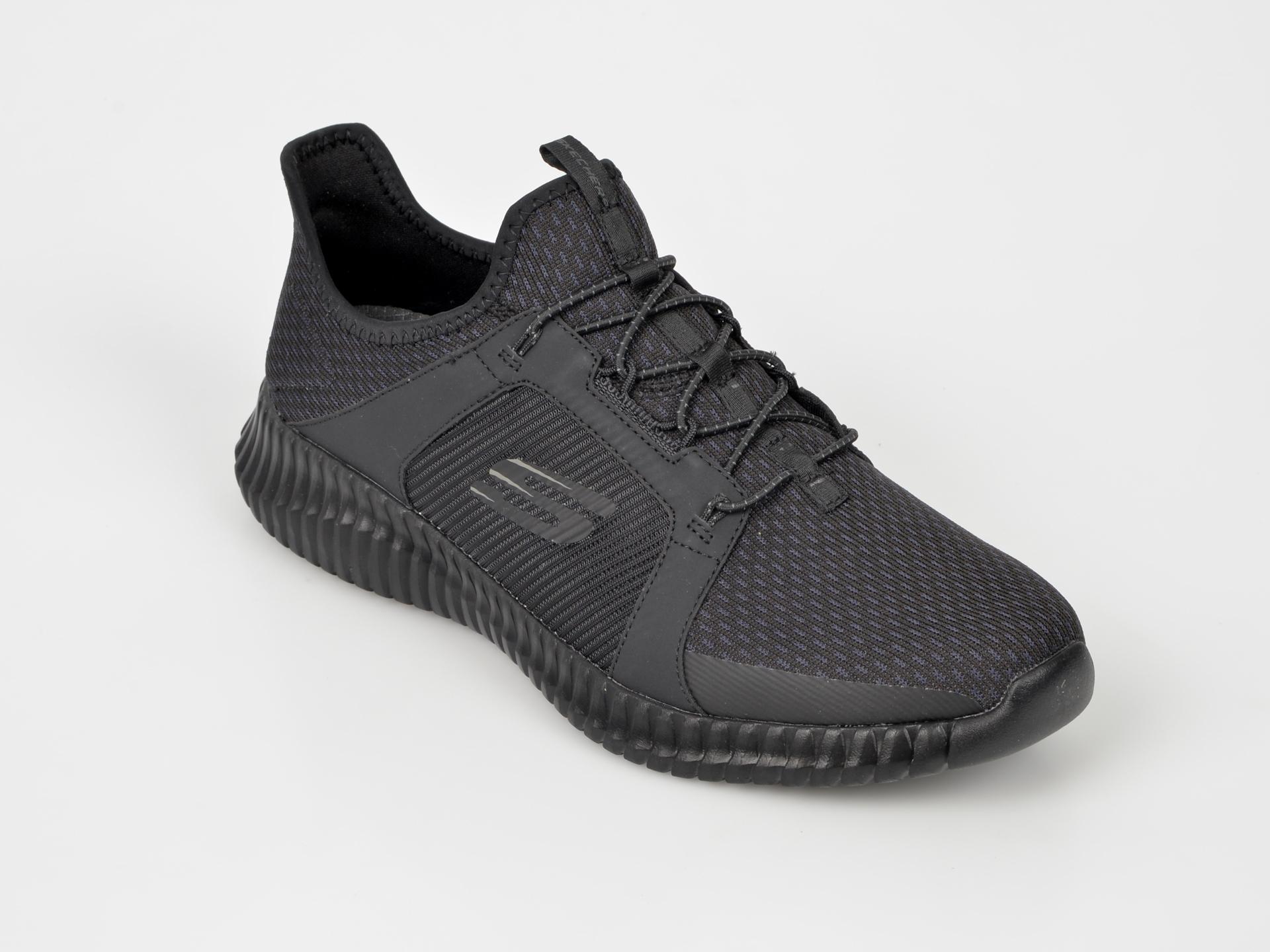 Pantofi sport SKECHERS negri, 52640, din material textil