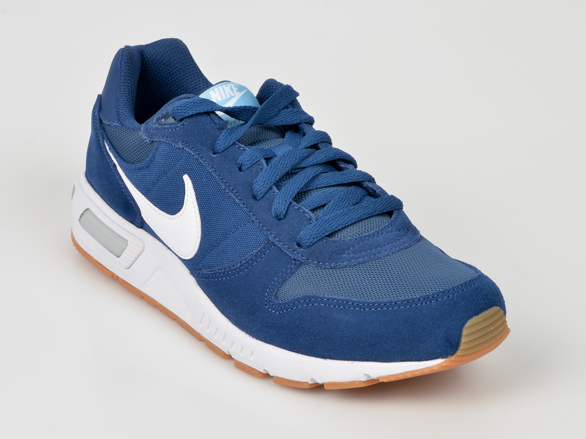 Pantofi sport NIKE albastri, 644402, din piele ecologica