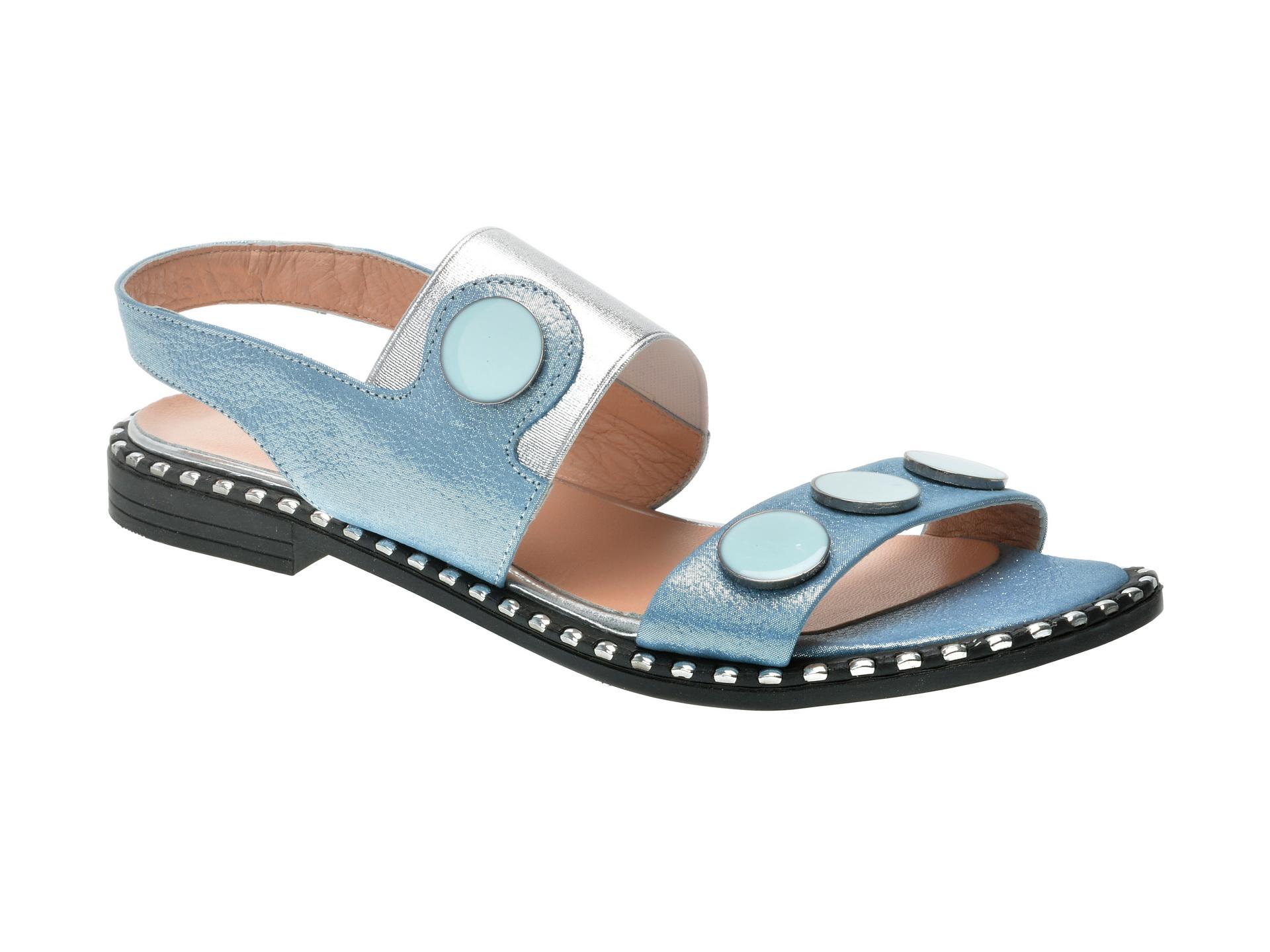 Sandale FLAVIA PASSINI bleu, 576K131, din piele naturala